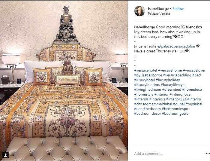 (تصویری دیگر از اتاق خواب امپریال سویتی در هتل ورساچه دوبی