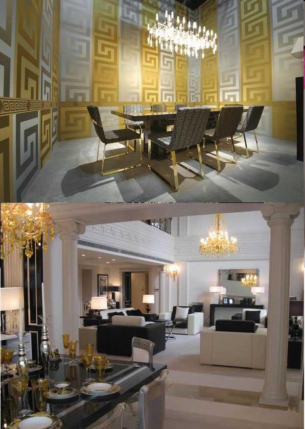 ۲ سبک متفاوت طراحی دکوراسیون داخلی را به سبک برند ورساچه