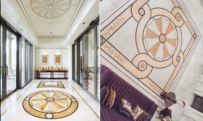تصویری از دکوراسیون داخلی ورودی هتل مجلل ۵ ستاره ورساچه در دوبی