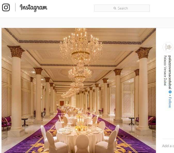 دکوراسیون داخلی سلطنتی هتل مجلل ورساچه دوبی