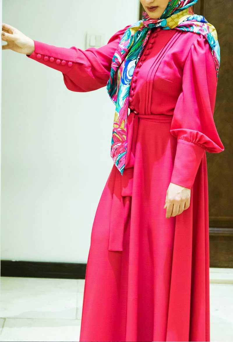 طراحی مانتو تابستانی بلند دخترانه آناشید حسینی