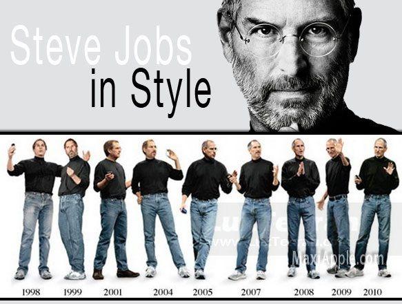 او در لباس پوشیدن، روش خاصی داشت استیو جابز