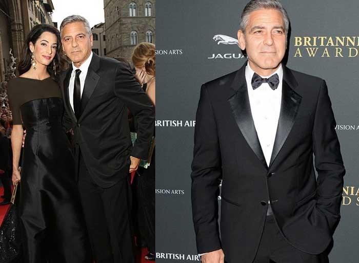 ۲ تیپ رسمی جذاب از آقای خوشتیپ سینمای هالیوود در کنار همسرش امل جورج کلونی
