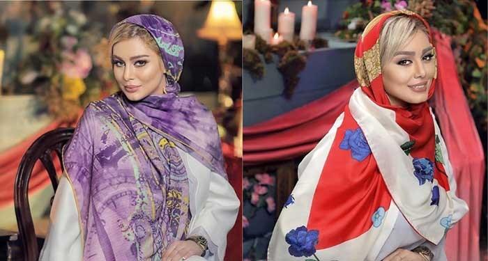انتخاب مانتو خوش طرح و نقش، انتخاب شال و روسری مناسب سحر قریشی
