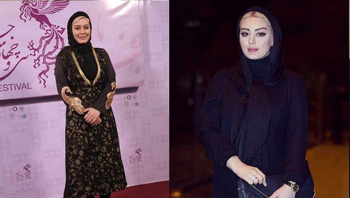 از مدل های مانتو سحر قریشی در سی و چهارمین جشنواره فیلم فجر تهران
