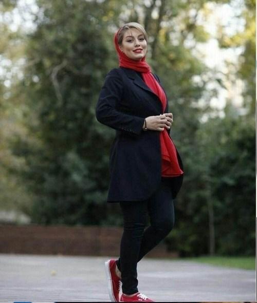 تیپ قرمز رنگ خانم شش میلیون فالوری سینمای ایران سحر قریشی