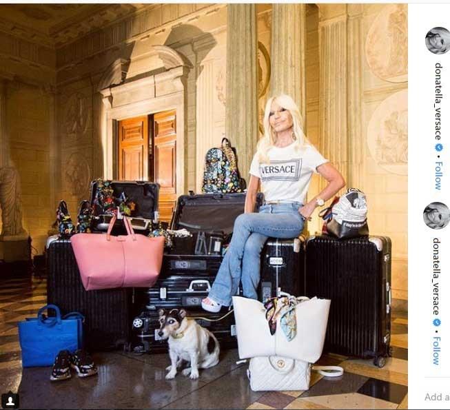 جدید ترین پست اینستاگرام دوناتلا ورساچه در خانه مجللش در ایتالیا