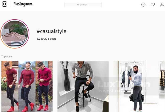 هشتگ #CASUALSTYLE بیش از ۳.۸ میلیون عکس