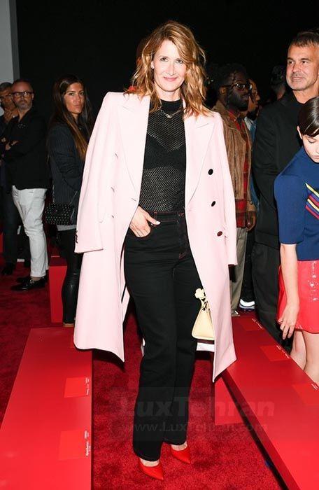 استایل لورا درن (LAURA DERN) در فرش قرمز فشن شو نیویورک در نیویورک