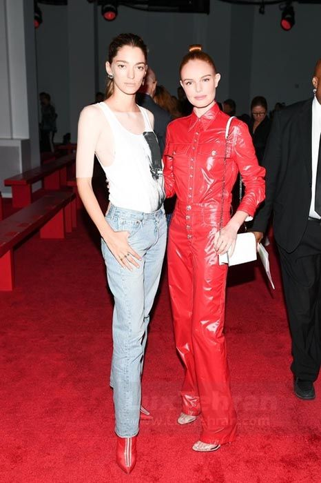 خانم سوفیا سانچز و کیت بوسورث از مدل های معروف کلوین کلین را در فشن شو تابستانی