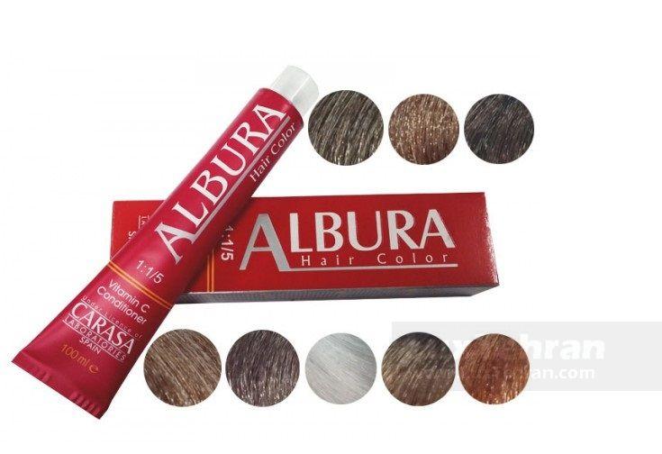 از محصولات ایرانی  رنگ مو آلبورا  تحت لیسانس CARASA اسپانیا