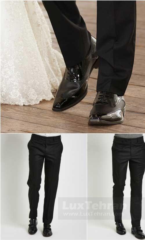 الگوهایی برای شلوار و کفش برای تاکسیدو