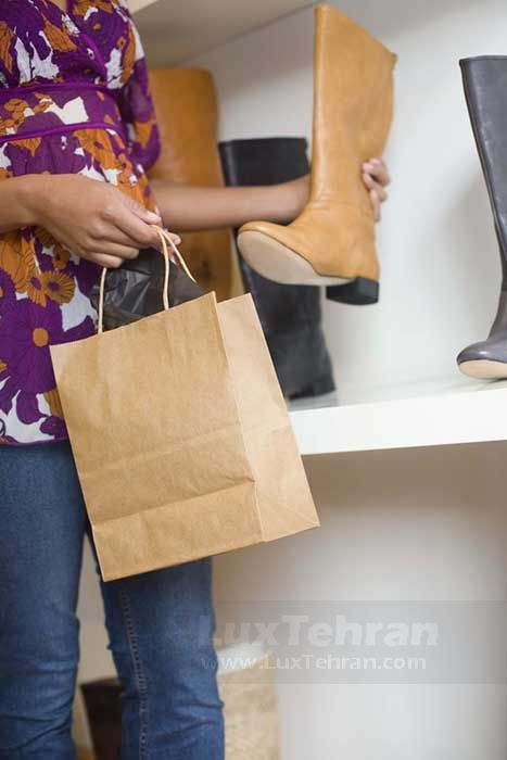 کفش چرمی قهوه ای زمستانی