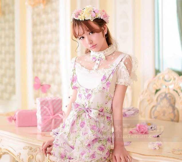 (طرح جذابی برای نوجوانان که لولیتا پرنسسی لباس عروسکی