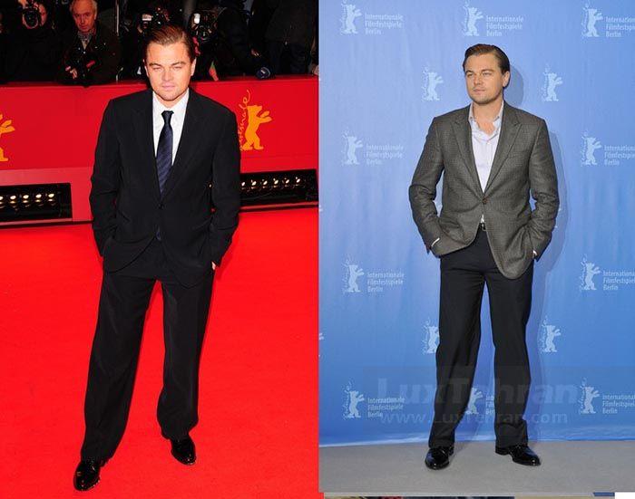 (کلکسیون تیپ های دی کاپریو در فوریه  ۲۰۱۰ میلادی  در فرش قرمز  شصتمین دوره جشنواره فیلم  برلین آلمان)