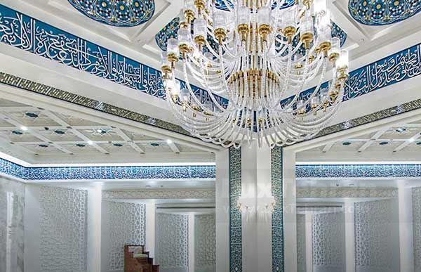 تصویری از معماری فوق العاده مسجد محمد رسول الله مرکز خرید ایران مال