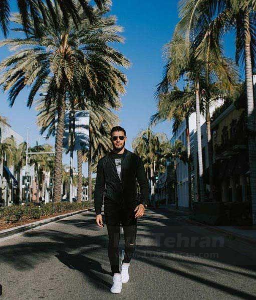 پیاده روی های صبحگاهی سام اصغری در لس آنجلس
