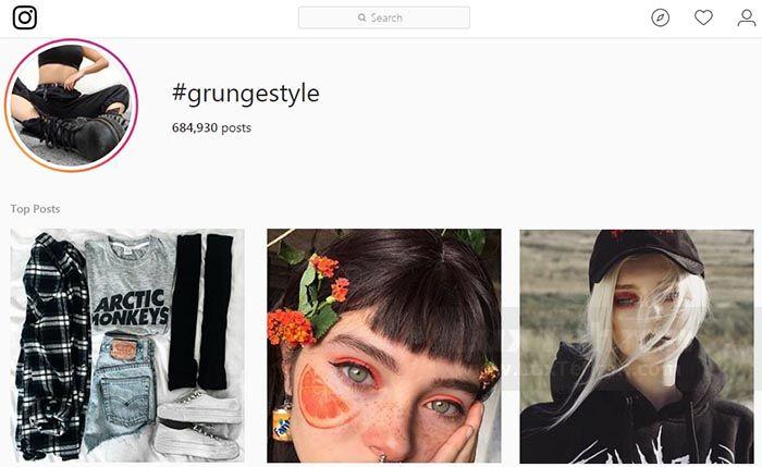 هشتگ #GRUNGESTYLE در اینستاگرام