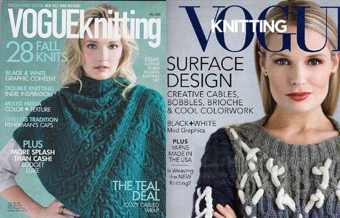 مجله ووگ بافتنی یکی از  بهترین ژورنال های پاییزی جهان است