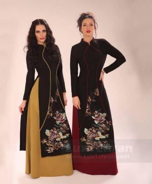 مدل مانتو مجلسی مشابه لباس ژاپنی