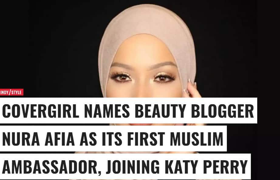 فشن بلاگر مهاجر مسلمان برای معرفی محصولات آرایشی و بهداشتی