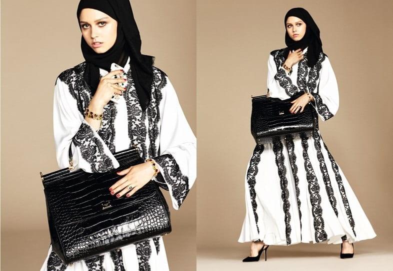 طرح های مد و لباس پوشیده که توسط برند D&G رونمایی شده است