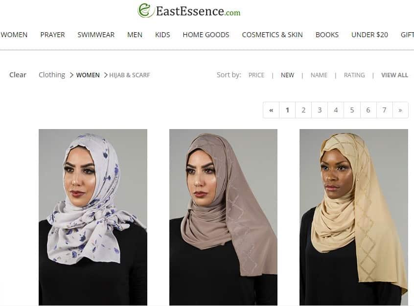 سایت ایست اسنس که از درگاه های ارائه دهنده طرح های جذاب و رنگارنگ مد اسلامی