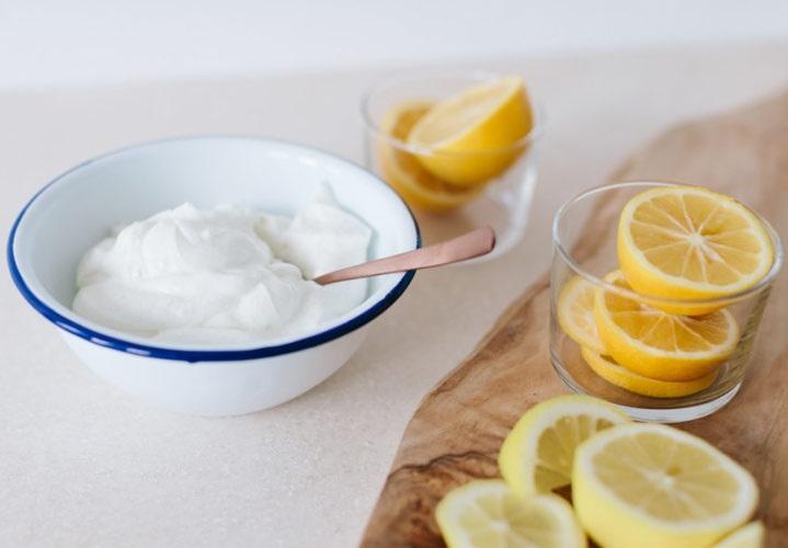 ماسک توت فرنگی و لیمو