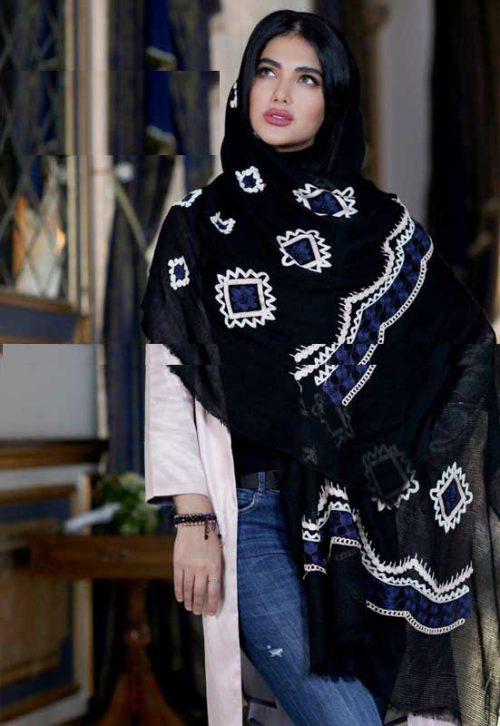 روسری طرح سنتی تیره