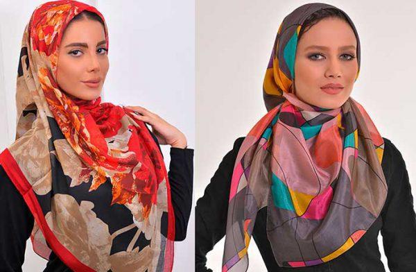 روسری مدل های گل دار و گرافیکی