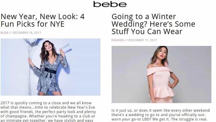 وبلاگ برند BEBE