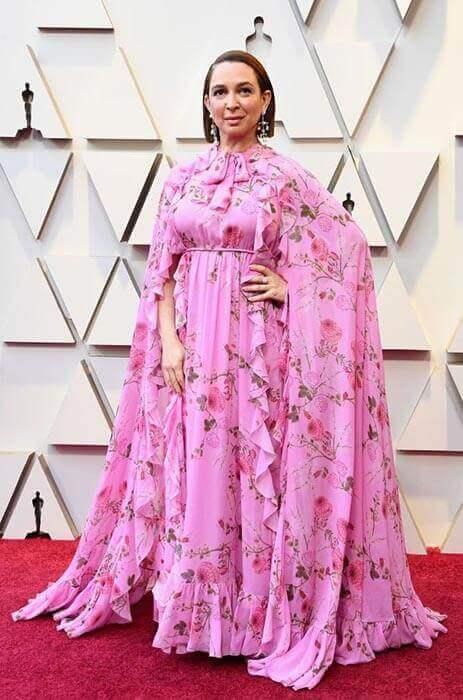 لباس گل دار و شاد صورتی رنگ از مایا رادولف