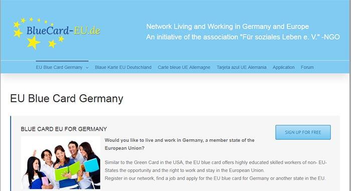 سایت رسمی آلمان برای دریافت بلو کارت
