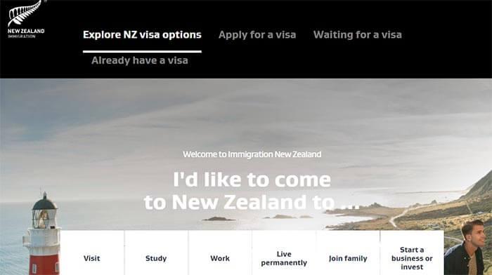 سایت رسمی اداره مهاجرت نیوزلند