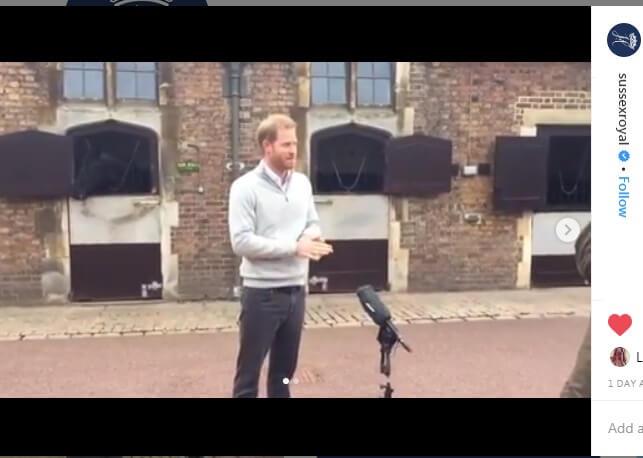 پرنس هری، روز دوشنبه، در یک کنفرانس خبری چند دقیقه ای