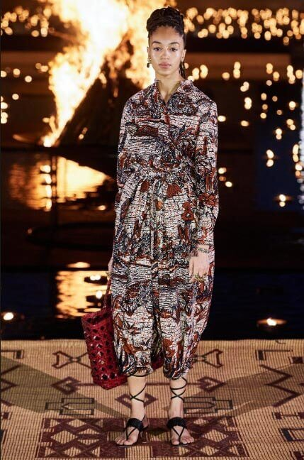 لباسی از کالکشن resort برند فرانسوی کریستین دیور