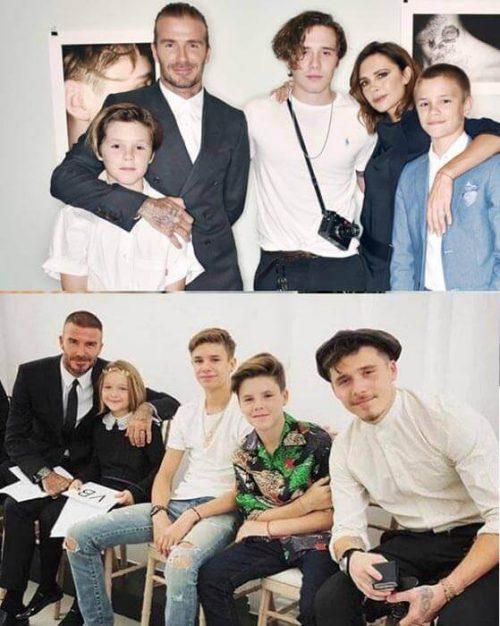 مونو کروم ها را در عکس خانوادگی بکهام نگاه کنید