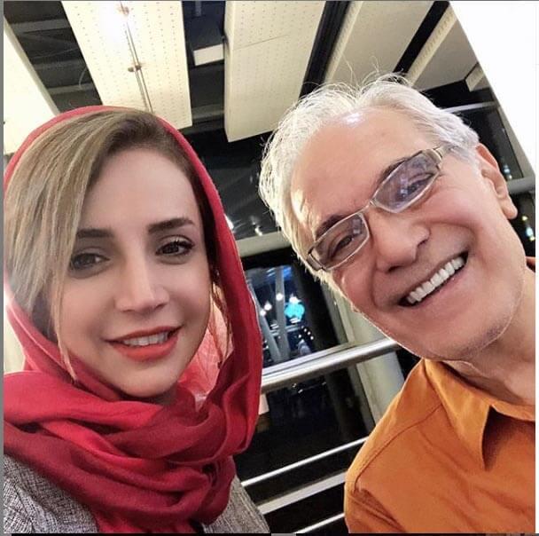 سلفی شبنم قلی خانی در کنار استاد محمود کلاری