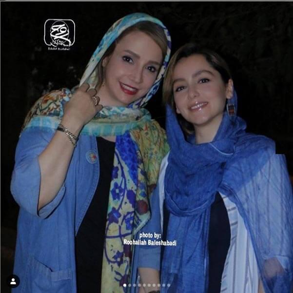 شبنم قلی خانی در این عکس در کنار نازنین بیاتی قرار گرفته