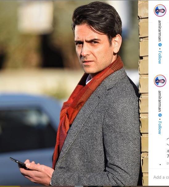 امیر حسین آرمان در این عکس، استایل شیک خود را در سریال مانکن به نمایش می گذارد