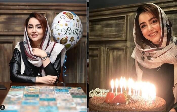 سالروز تولد نازنین بیاتی که او این تیپ و این کیک تولد را برای دی ماه ۹۷ انتخاب کرد