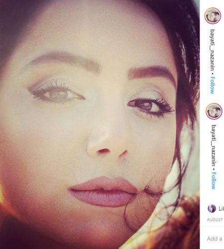نازنین بیاتی، علاقه زیادی به انتشار پرتره آرایش کرده خود دارد