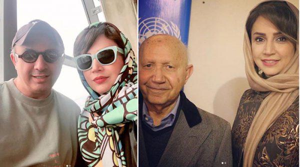 شبنم قلی خانی در کنار برادر و در محضر استاد دکتر الهی قشمه ای