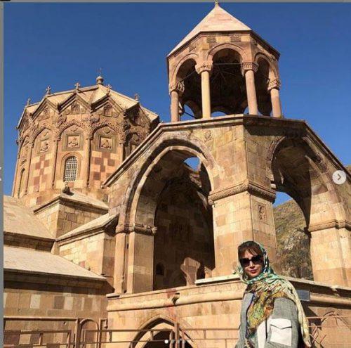 تیپ تابستانی شبنم قلی خانی را در جلفای آذربایجان