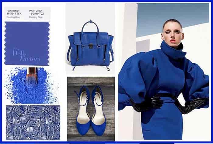 لباس شب بانوان به رنگ آبی کلاسیک