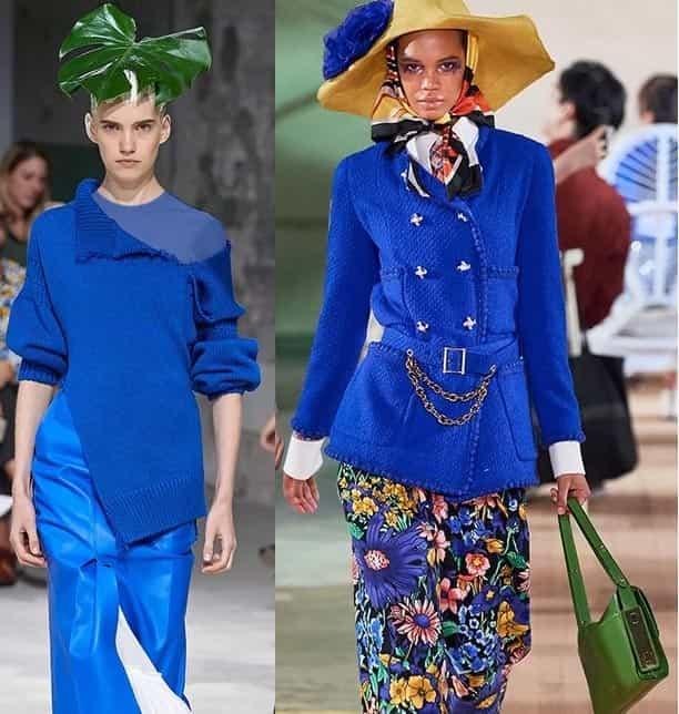 طرح های آبی کلاسیک از برند BALENCIAGA