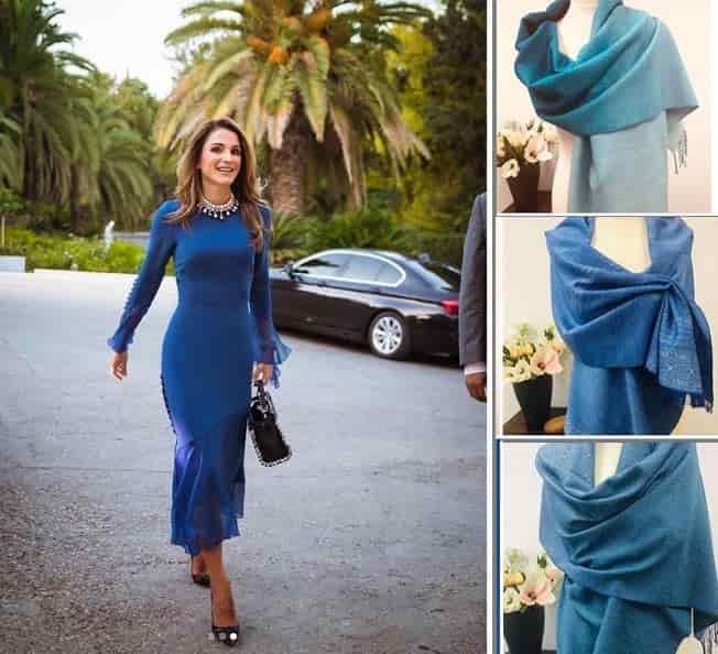 شال و لباس به انتخاب آبی کلاسیک