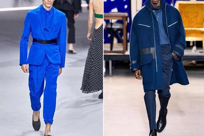 طرح پاییز و زمستانی مردانه آبی کلاسیک