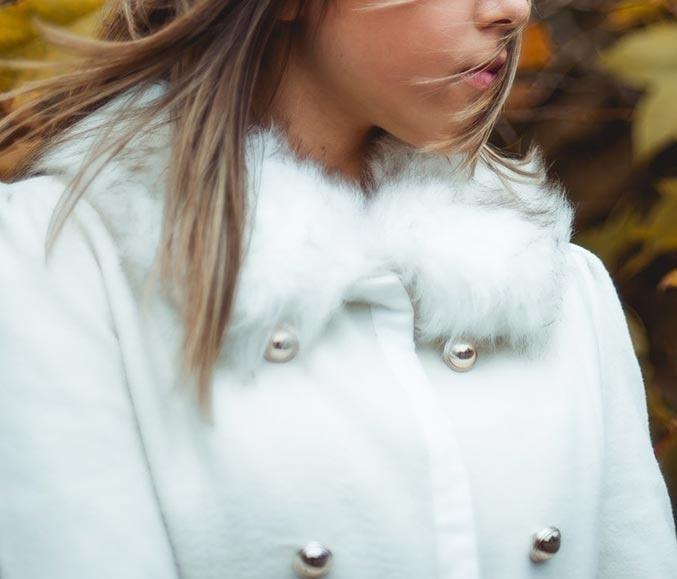 پالتو زنانه سفید رنگ