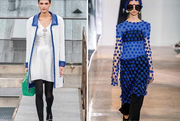 آبی کلاسیک در طراحی کت و سر آستین